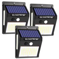 Kinkiet solarny 100 LED z czujnikiem ruchu i zmierzchu 3szt.