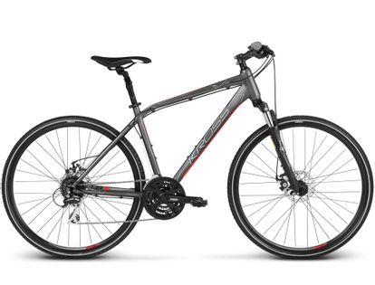 """KROSS EVADO 4.0 S 17"""" rower grafitowo- czerwony mat"""