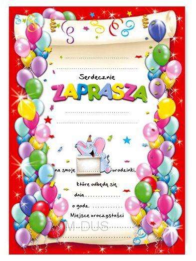 Zaproszenia Na Urodziny Wzór Słonik Arenapl