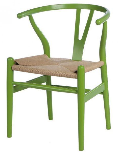 Krzesło Wicker Color zielone zdjęcie 1