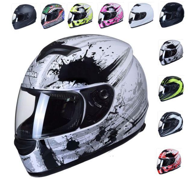 KASK MOTOCYKLOWY ZAMKNIĘTY INTEGRALNY 10 kolorów SKUTER MOTOCYKL NOWY zdjęcie 1