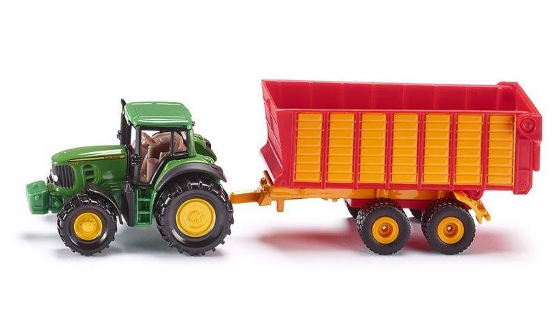 Traktor John Deere z przyczepą zdjęcie 1