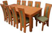 Duży stół rozkładany do 3 metrów i 10 krzeseł olcha:)