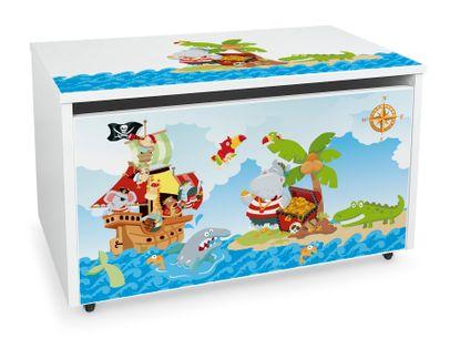 Mobilna skrzynia na zabawki duża Piraci