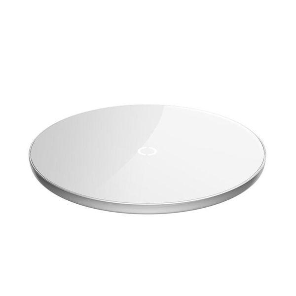 Baseus Simple - Bezprzewodowa ładowarka indukcyjna Qi do iPhone i Android 10W (biały) zdjęcie 7