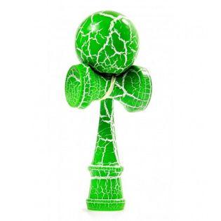 Kendama drewniana gra zręcznościowa biało - zielona