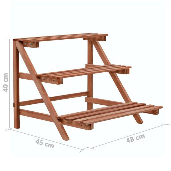 3-Piętrowy Regał Na Rośliny Z Drewna Cedrowego, 48 X 45 X 40 Cm zdjęcie 6