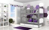 Łóżko piętrowe TAMI COLOR  190x80 szuflada + materace