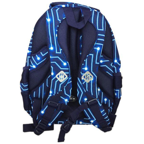 Trzykomorowy plecak szkolny St.Right 29 L, Pixelmania Blue BP4 zdjęcie 6
