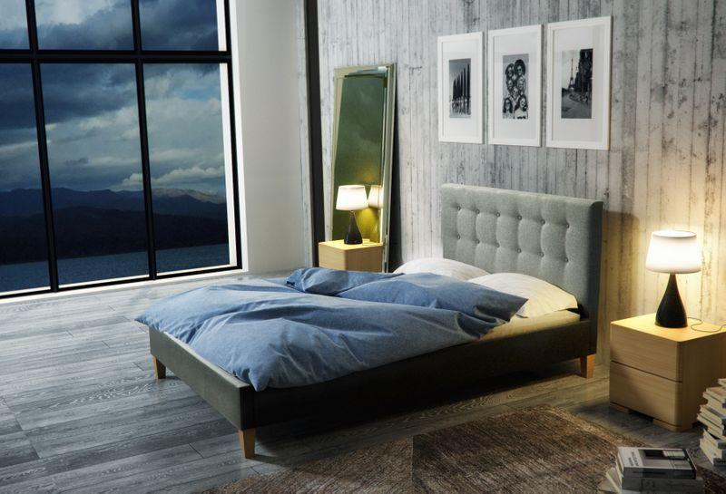 Łóżko tapicerowane DAWID 160X200 + STELAŻ+MATERAC zdjęcie 11