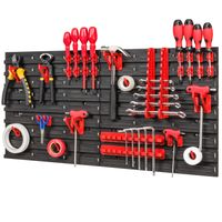 Tablica ścianka narzędziowa do garażu + 36 uchwytów PRO-MIX43