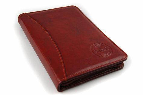 Skórzane etui na dokumenty, recepty, wizytówki Cartello W614 Koniakowy