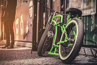 Zielony rower Rozmiar - 120x80, Kolor - Kolor