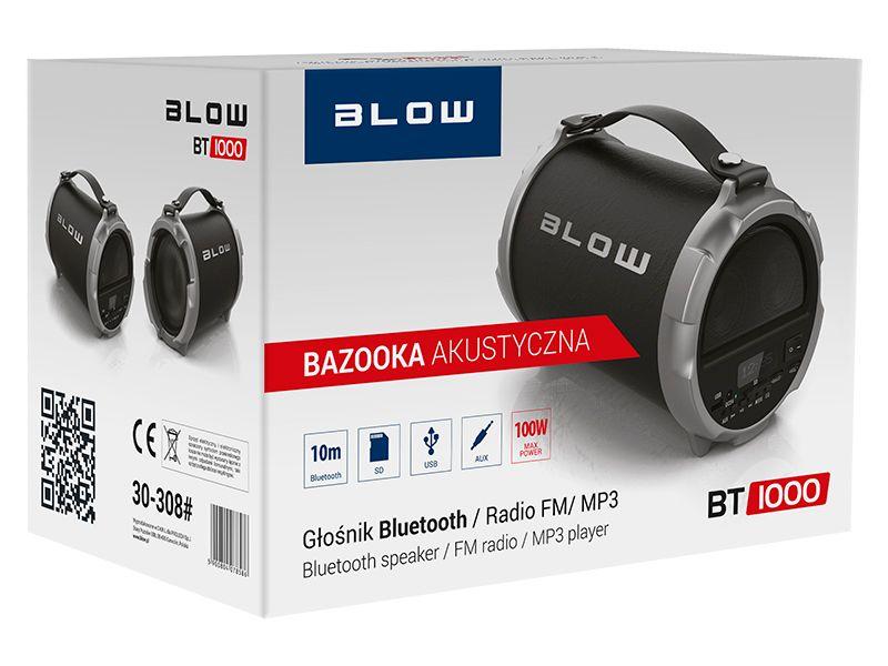 GŁOŚNIK BLUETOOTH BLOW BT1000 100W USB SD FM AUX + ŁADOWARKA zdjęcie 3