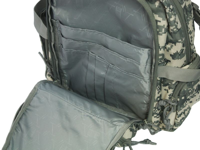 Dwukomorowy plecak szkolny St.Right 30 L, Military Moro BP36 zdjęcie 6
