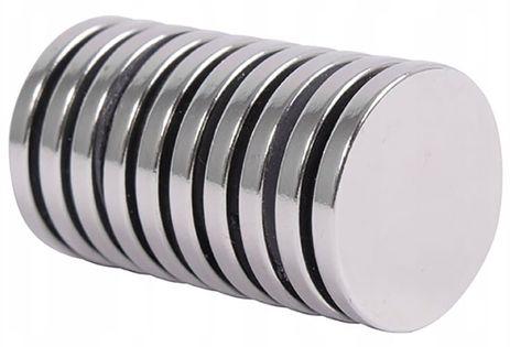 Magnes neodymowy walcowy mocny 10 sztuk