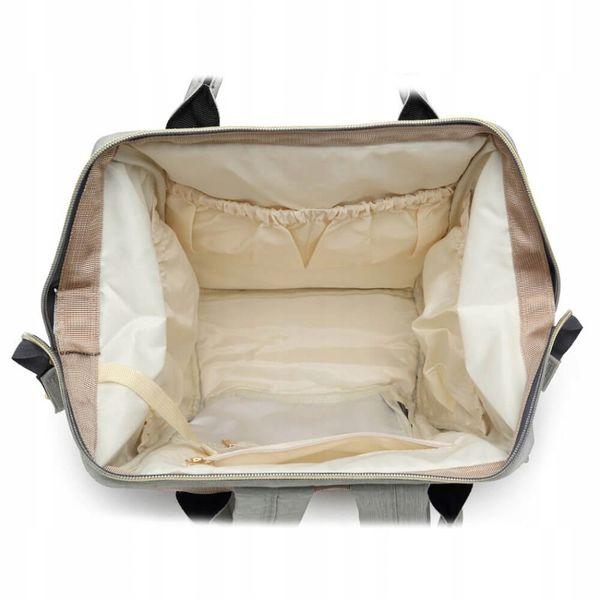 Plecak dla mamy damski elegancki vintage w paski KN61 zdjęcie 6
