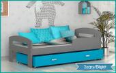 Łóżko dla dzieci GRZEŚ COLOR 160x80 + materac