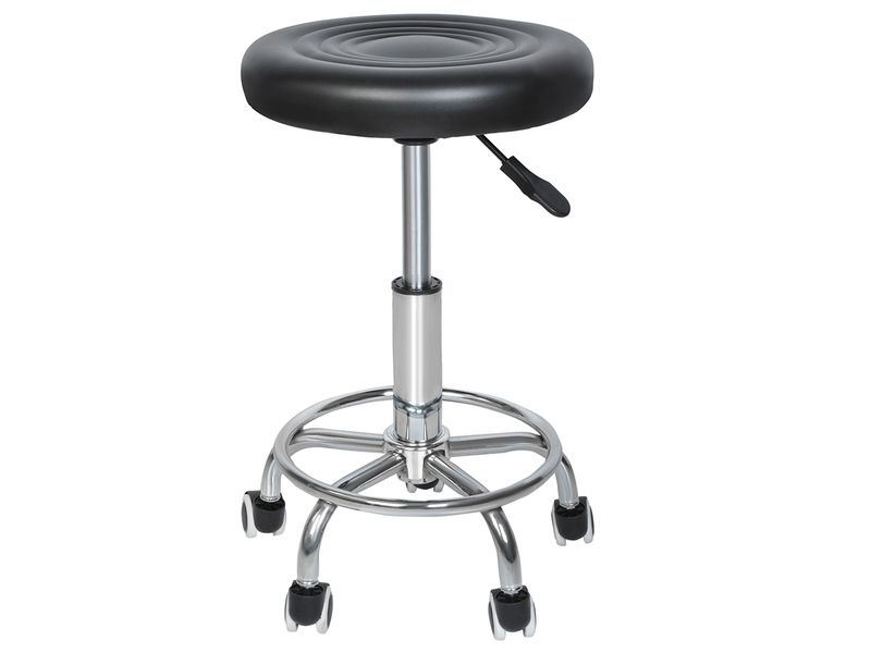 Stołek Fryzjerski Kosmetyczny Krzesło HOKER czarny 5178 zdjęcie 1