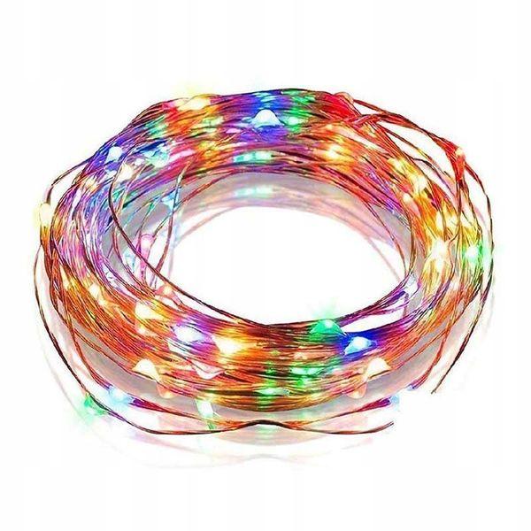 LAMPKI DRUCIKI 100 MICRO LED CHOINKOWE MULTI zdjęcie 1