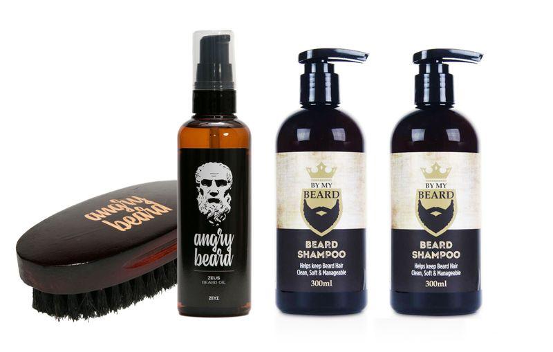 Angry Beard zestaw do brody szampon, olejek, szczotka, balsam zdjęcie 1