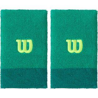 Frotka na rękę Wilson Extra Wide szeroka zielona 2szt WRA733513