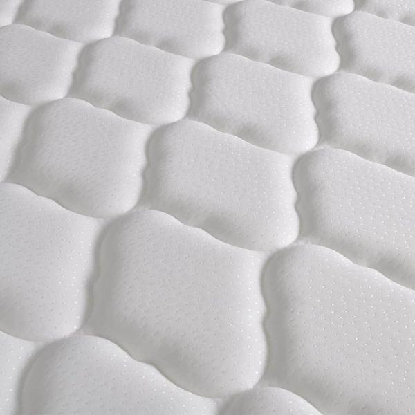 Łóżko z materacem z pianką memory, 140x200 cm, sosnowe, białe zdjęcie 4