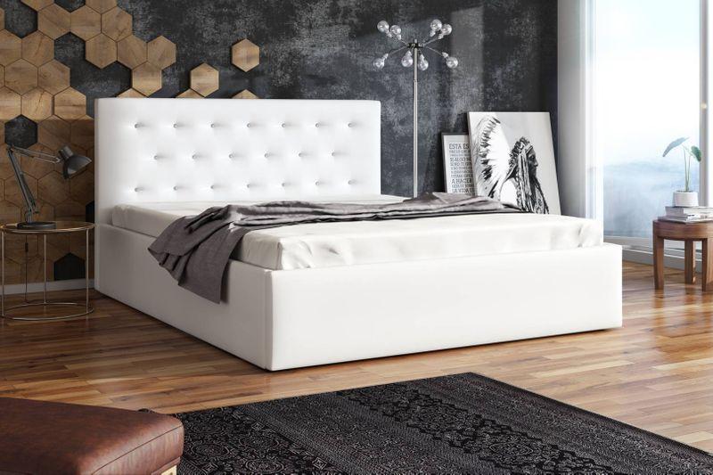 Łóżko tapicerowane z materacem 180x200 BIRD Star zdjęcie 2
