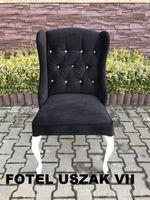 Fotel USZAK  Producent  Drewniane Bukowe + Kryształki , Nogi Ludwik