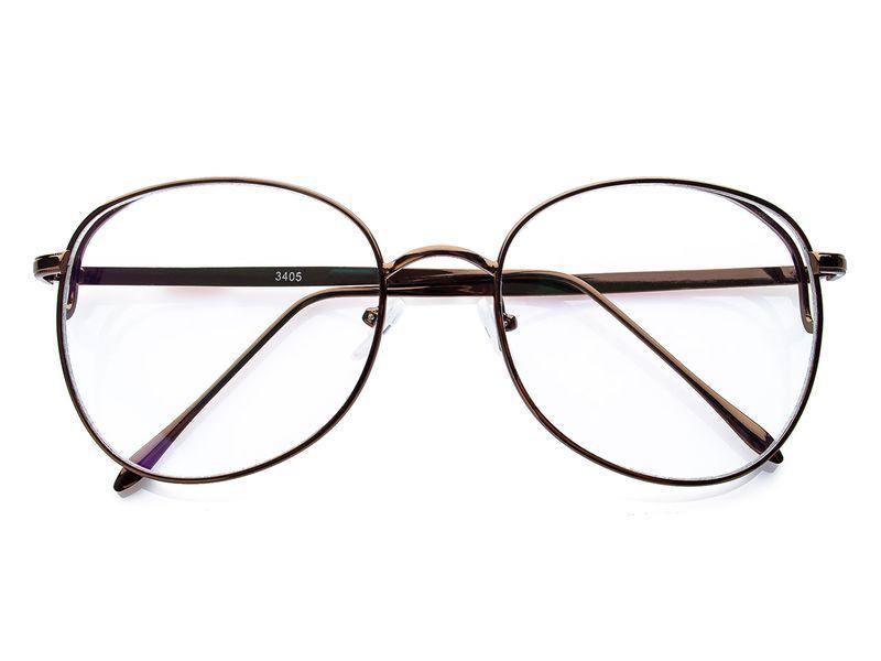 Metalowe owalne okulary zerówki 2024 | OKULARY ZERÓWKI w