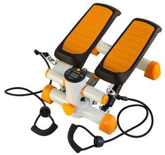 Stepper prosty z linkami Hms S3092 pomarańczowo-biały