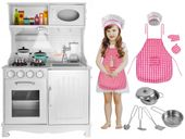 Kuchnia Drewniana Dla Dziecki Kuchenka Dźwieki Światło Akcesoria Z371 zdjęcie 14