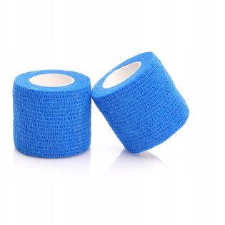 Bandaż kohezyjny samoprzylepny 5cm x 4,5m niebieski