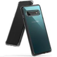 Ringke Fusion etui pokrowiec z żelową ramką Samsung Galaxy S10 czarny (FSSG0056-RPKG)