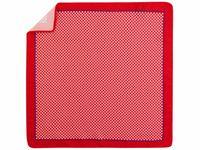 Czerwono-biała poszetka w geometryczny wzór E279