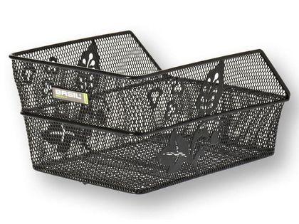 Kosz na tylny bagażnik BASIL CENTO FLOWER S + Mounting set for CENTO basket, stalowy czarny