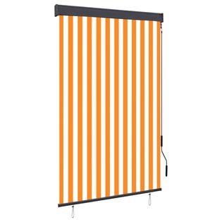 Roleta zewnętrzna, 120x250 cm, biało-pomarańczowa