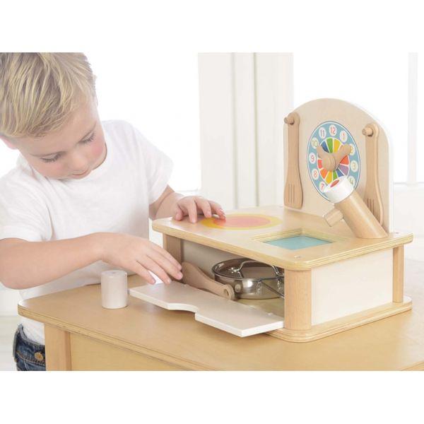 Drewniana Mini Kuchenka Dla Dzieci Masterkidz + Akcesoria zdjęcie 3