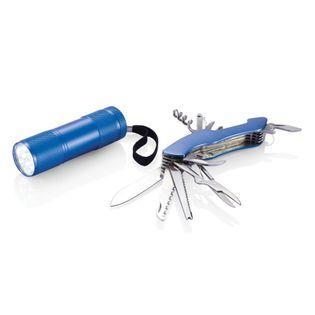 Zestaw narzędzi Quattro, scyzoryk wielofunkcyjny 13 el., latarka