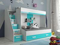Łóżko Piętrowe dla dzieci, meble młodzieżowe antresola PARTY 16