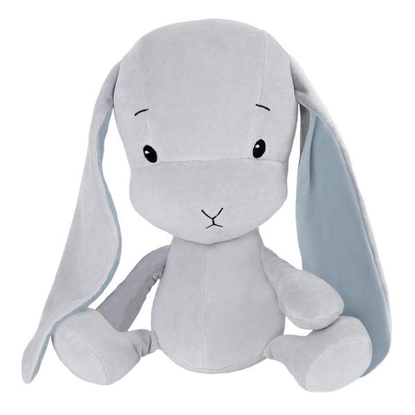 Effiki - Królik Effik S - Szary, niebieskie uszy, 20 cm zdjęcie 1