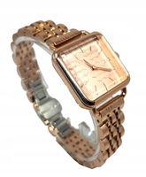 Modny Damski Zegarek Bransoleta Kwadratowy Złoty