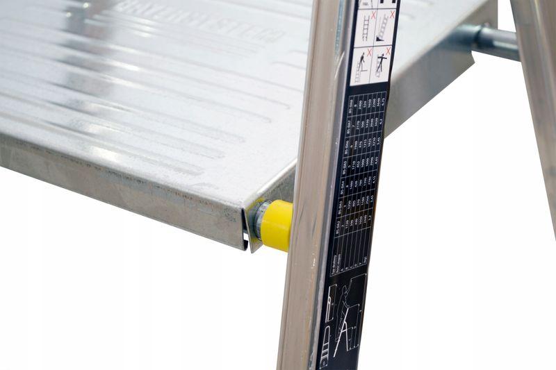 DRABINA aluminiowa domowa 5 stopniowa 150kg EN131 na Arena.pl