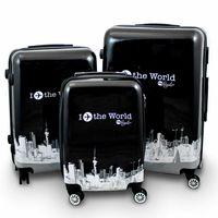 walizki zestaw czarno biale Fly the World