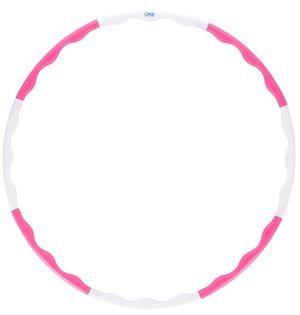 Hula hop 0.4 kg One Fitness HHP090 różowo-białe 90 cm