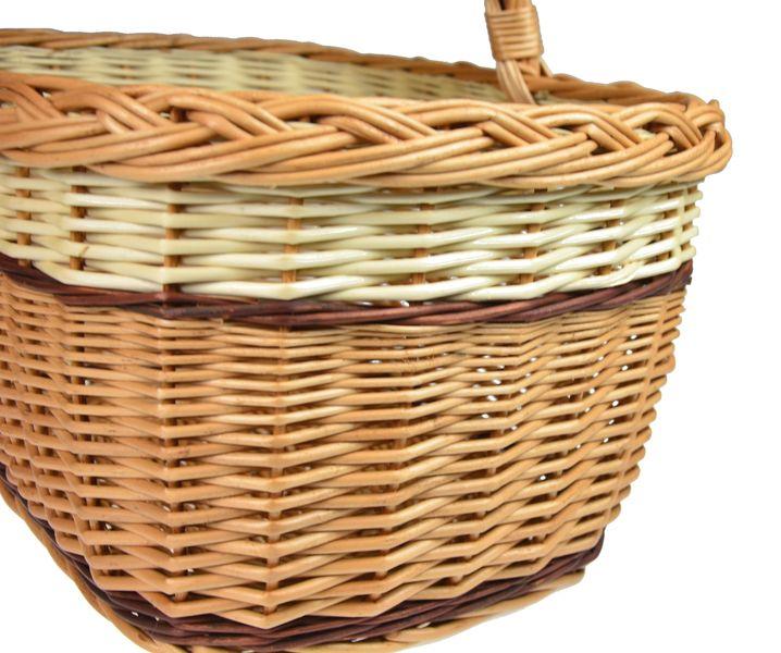 Piękny wiklinowy KOSZ NA ZAKUPY GRZYBY PIKNIK XL zdjęcie 4