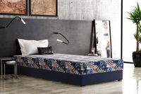 Łóżko hotelowe, jednoosobowe z pojemnikiem na pościel LUIS