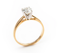 Pierścionek Zaręczynowy z Brylantem [PZB -001] ROZMIAR - 19
