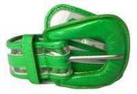 PASEK DAMSKI zielony przezroczysty szer. 4cm