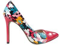 Szpilki kwiatowe buty damskie z wycięciem 39